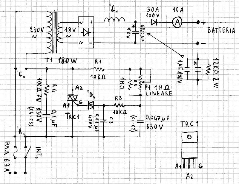 Schema Elettrico Per Caricabatterie 12 Volt : Semplice caricabatterie elettronico fai da te offgrid