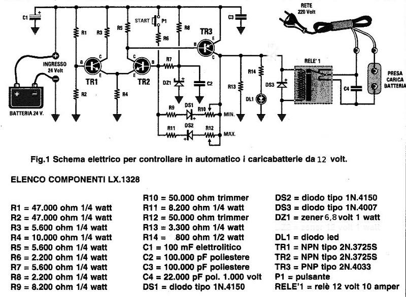 Schema Elettrico Per Puntatrice : Semplice caricabatterie elettronico page fai da te