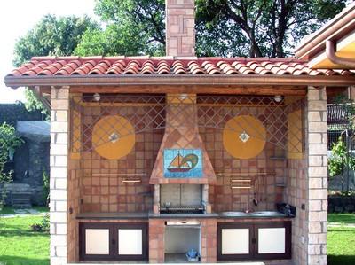Arriva l 39 estate tempo di barbecue fai da te offgrid - Cucina in muratura per esterni con barbecue ...