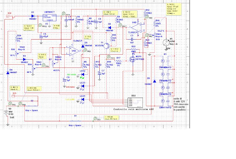 Schema Elettrico Per Pannelli Solari : Simulazione di un semplice schema regolatore carica