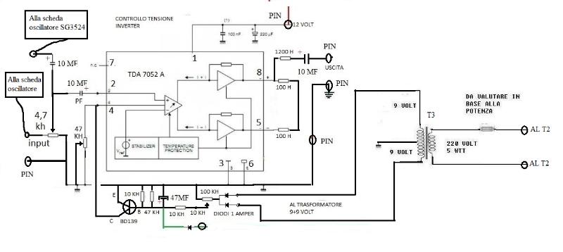 Schema Elettrico Inverter : Schema elettrico dell inverter a onda sinusoidale page