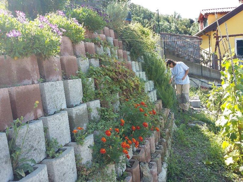 Muro Di Sostegno A Confine.Muro Di Sostegno Con Blocchi Prefabbricati Fai Da Te Offgrid
